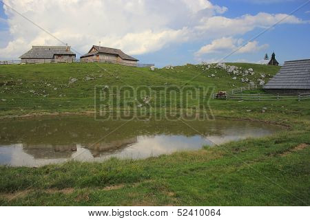 Alpine Puddle In The Rain, Slovenija