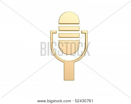 golden on air microphone
