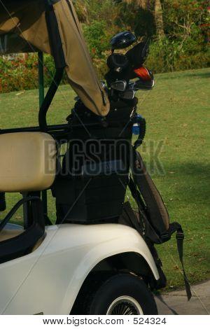 Golf Bag On Cart