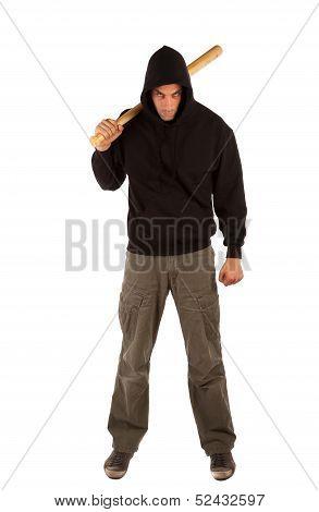 Hooligan With Baseball Bat