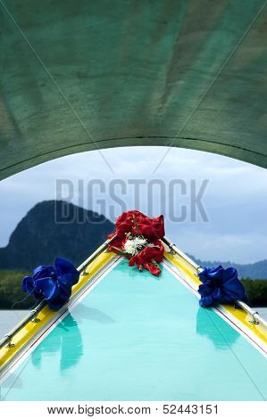 decorated boat in thailand