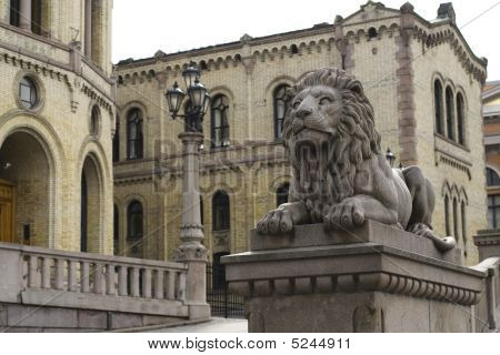 Oslo. Sculpture Of Lion
