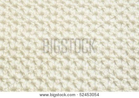 White Crochet Fabric
