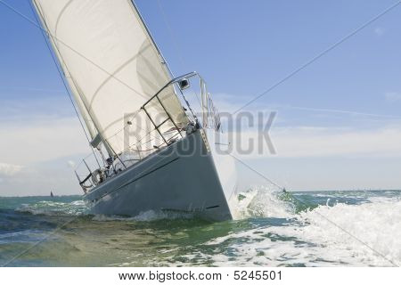Sail Boat Up Close