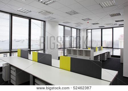 White Brand New Interior Of Office