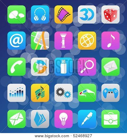 vector illustration of mobile app icons