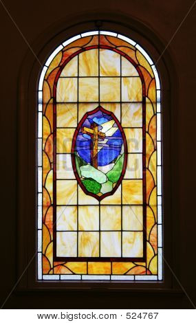 Holy Cross Stained Glass Window