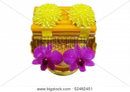 Incense candles altar