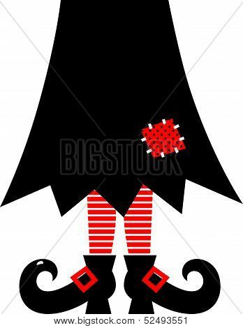 Witch legs red