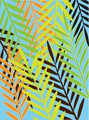 Illustration of seamless green Hawaii pattern background poster