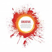 Bright paint splatter border with area for text poster