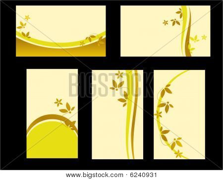 Yellow Floral Business Card Set