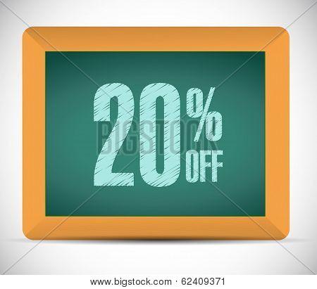 20 Percent Discount Message Illustration