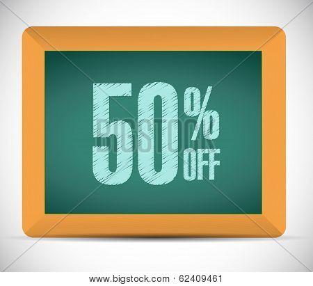 50 Percent Discount Message Illustration