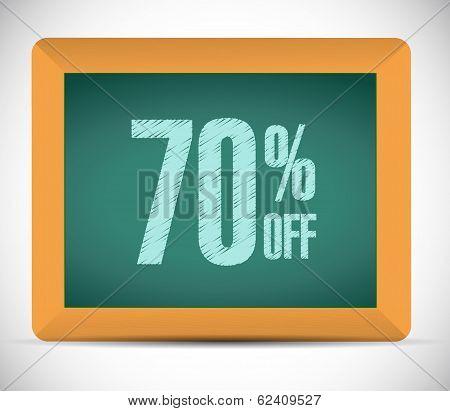 70 Percent Discount Message Illustration