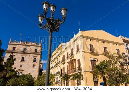 Valencia Plaza de la Virgen square Palau Generalitat of Spain