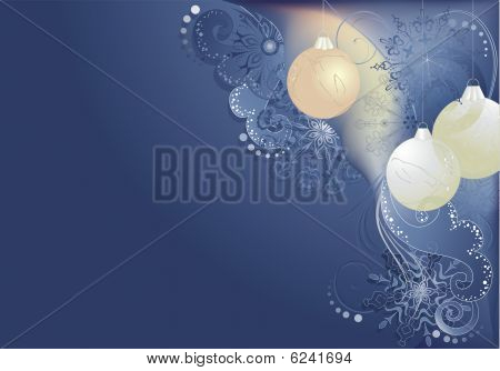 Blue Abstract Christmas