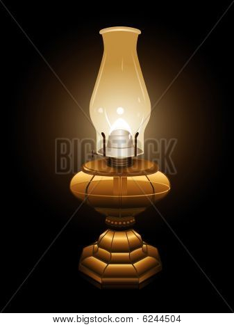 Hurricane lamp illustration