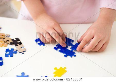 Children Play Puzzle