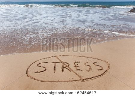 No stress - stress relief symbol