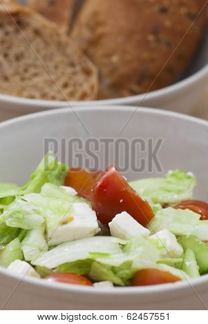 Fetta Salad Portion And Bread