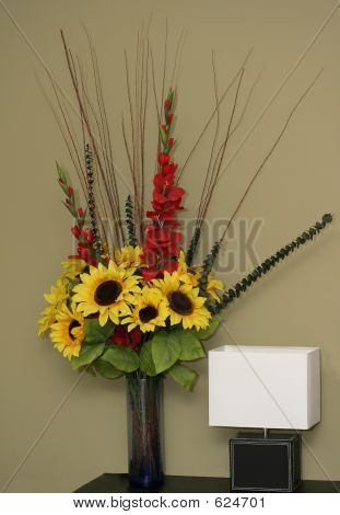 Flowers & Lamp