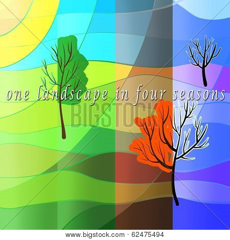 landscape in four sesons
