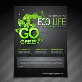 vector eco flyer brochure poster template and magazine cover poster