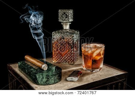 Liquor And Cigar