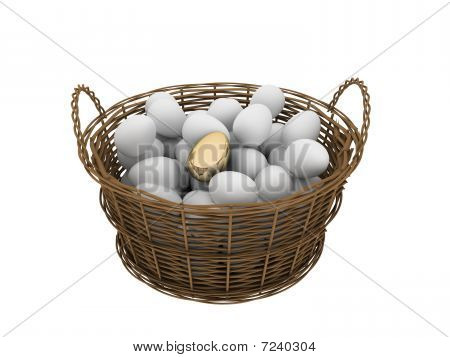 Basket With Eggs