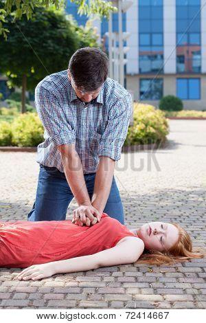 Man Doing Heart Massage