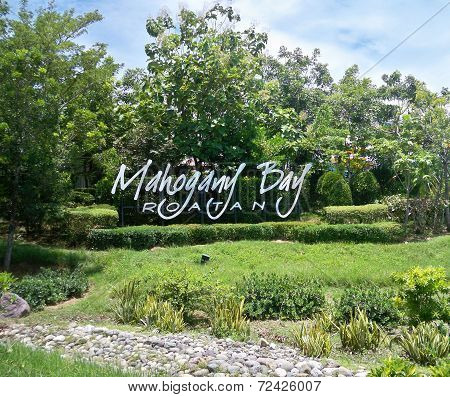 Mahogany Bay Sign