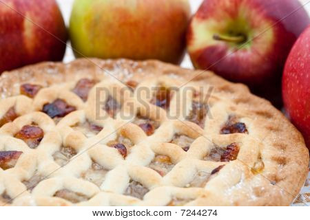 Freshly Baked Lattice Apple Pie