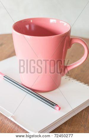 Beautiful Hot Drink Mug And Notepaper