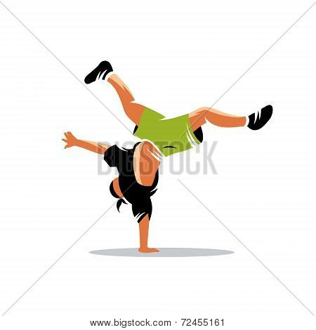 Breakdance Vector Sign