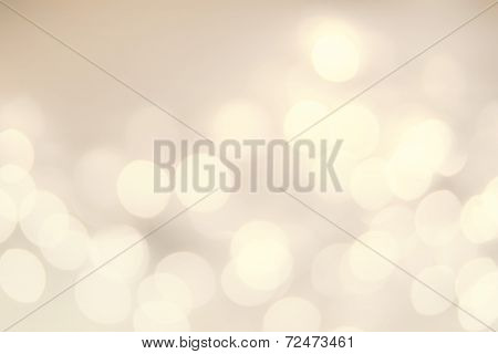 Vintage Christmas background with golden bokeh lights. Defocused Bokeh twinkling Lights Festive holiday party background. poster
