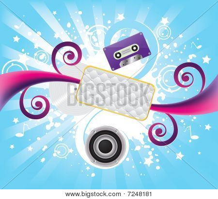 Music abstract background, vector