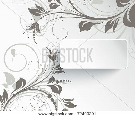 Floral background for design
