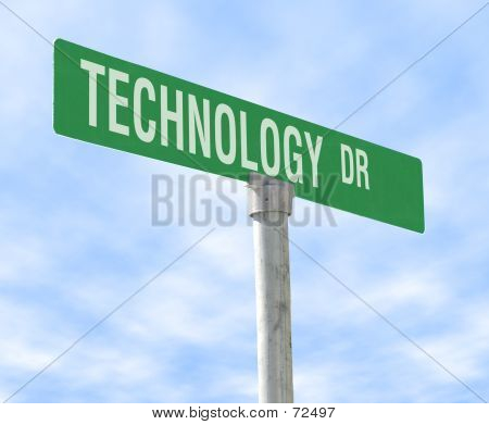Technology Themed Street Sign