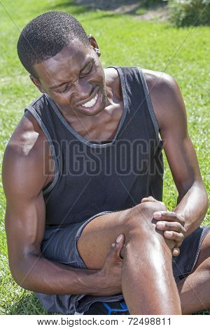 Athlete With Knee Injury