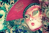 Carnival masks of the world most famous grand canal venice historical center poster