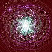 Digital 2D Illustration of a fractal Structure poster