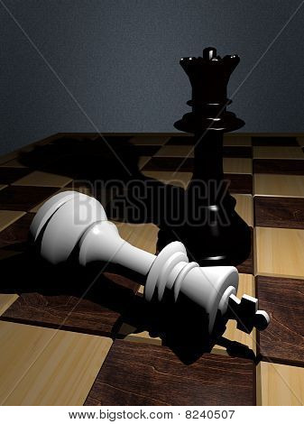 The king is checkmated.