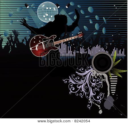 Poster,rock festival band.Easy to edit/move.Vector.