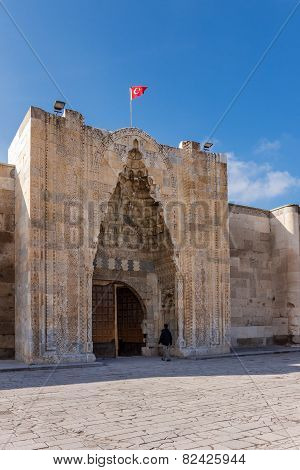 Magnificent entrance to the Sultanhani caravansary on the Silk Road Turkey poster