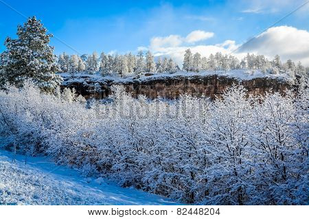 Snow Covered Mountain Morning