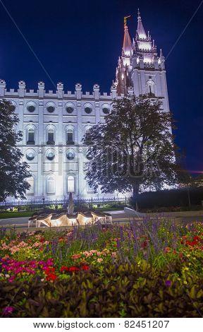 The Salt Lake City Mormons Temple
