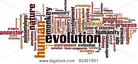 Evolution Word Cloud