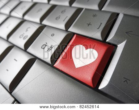 Love Heart Icon Key