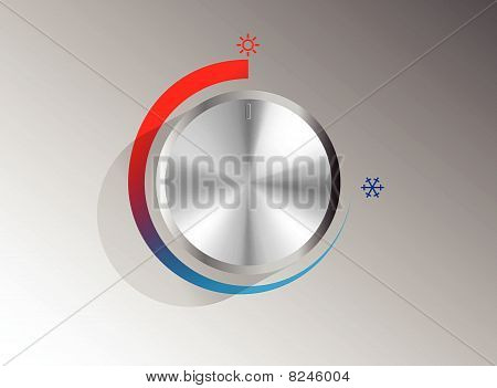hot and cold knob vector illustration